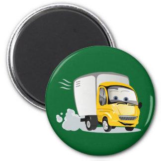 Imã Pouco caminhão amarelo dos desenhos animados para