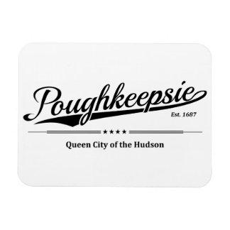 Ímã Poughkeepsie - cidade da rainha do Hudson - preto