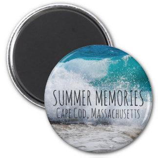 Imã Praia personalizada das memórias do verão
