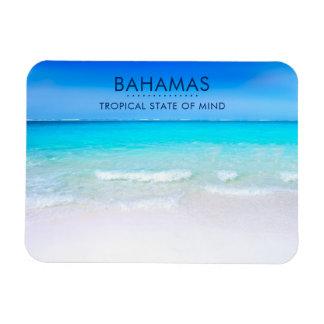 Ímã Praia tropical de Bahamas com um mar de turquesa
