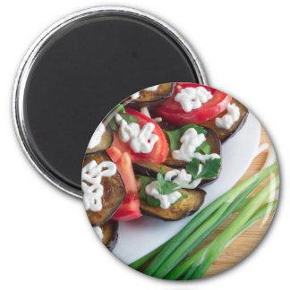 Imã Prato de vegetariano da beringela stewed