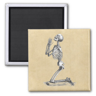 Imã Praying de esqueleto