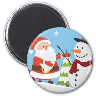 Imã Presente bonito do Xmas do Natal do boneco de neve