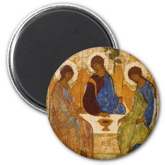 Imã Presente católico bizantino de Rublev do ícone da