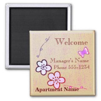 Imã Presente welsome do apartamento