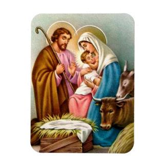 Ímã Presentes da cena da natividade para o Natal