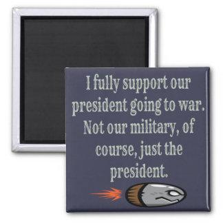 Imã Presidente Going à piada da guerra