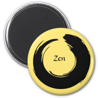 Ímã preto/amarelo pálido do zen ímã redondo 5.08cm