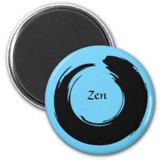Ímã preto/azul do zen ímã redondo 5.08cm