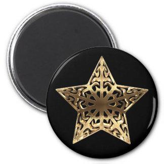 Imã Preto dourado da estrela e metálico elegante do