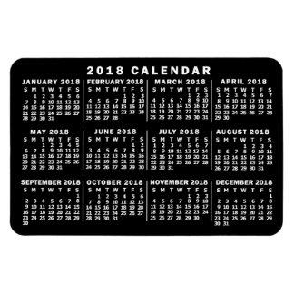 Ímã Preto e branco clássico do calendário mensal de
