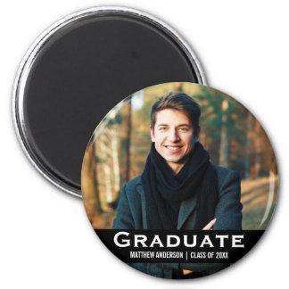 Imã Preto moderno do Rd do ímã da foto da graduação