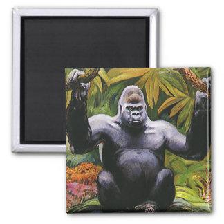 Imã Primata da selva do vintage, gorila da planície do