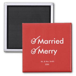 Imã Primeiro Natal casado casado e da feliz |