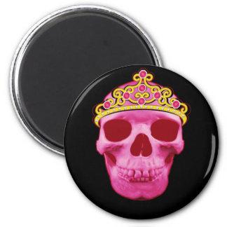 Imã Princesa cor-de-rosa Crânio