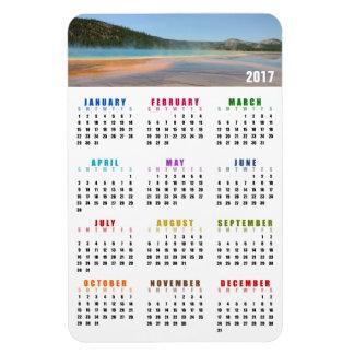 Ímã prismático grande do calendário do primavera