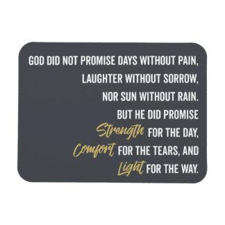 Ímã Promessa do conforto e da luz da força
