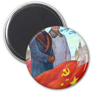 Imã Propaganda original Mao Zedong e Josef Stalin