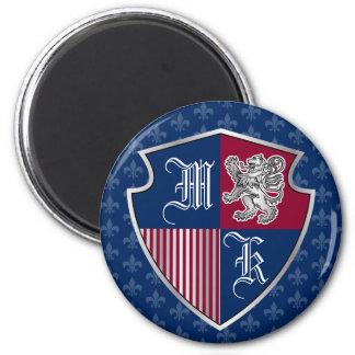Imã Protetor de prata do emblema do monograma da