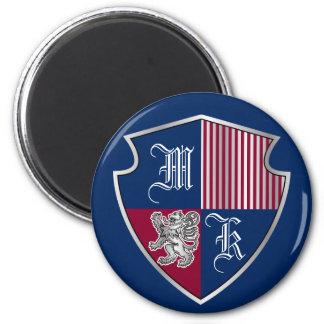 Imã Protetor do leão da prata do emblema do monograma