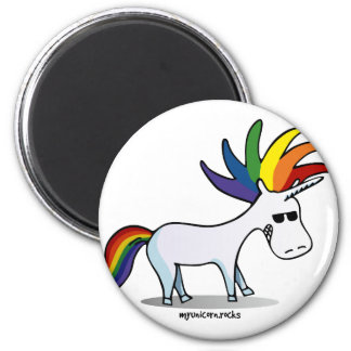 Imã Punk Unicorn - punk unicórnio