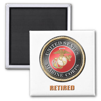 Ímã quadrado aposentado USMC
