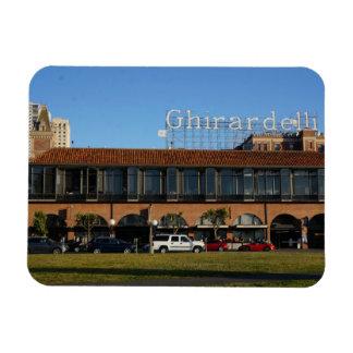 Ímã quadrado da foto de San Francisco Ghirardelli
