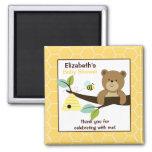 Ímã quadrado do favor do urso e da abelha de mel ima de geladeira
