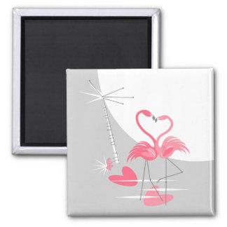 Imã Quadrado do ímã da lua do amor do flamingo grande