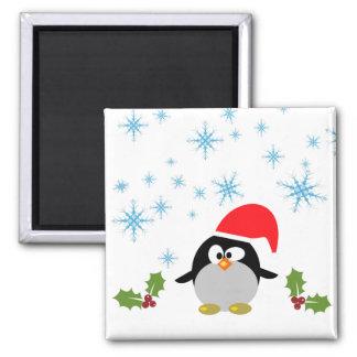 Ímã quadrado do pinguim 5,1 Cm do feriado Imã