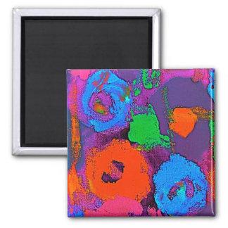 Ímã quadrado do pop art dois