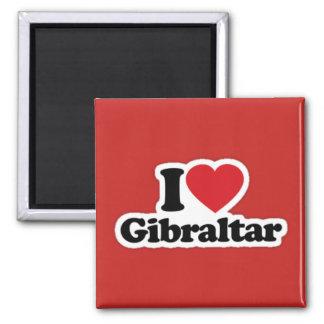 Imã Quadrado eu amo o ímã de Gibraltar