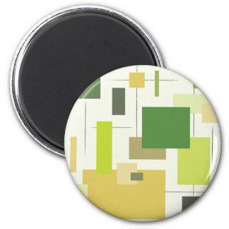 Imã Quadrados verdes modernos do Midcentury