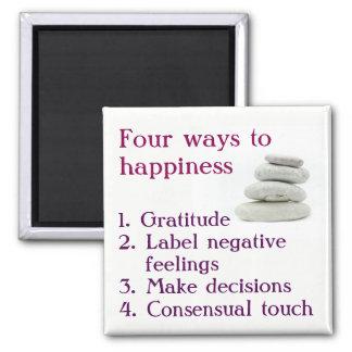 Imã Quatro maneiras à felicidade