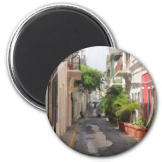 Imã Quieto pouca rua de Puerto Rico