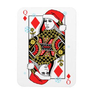 Ímã Rainha do Feliz Natal dos diamantes