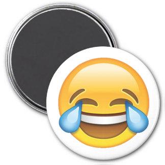 Imã Rasgos de grito de riso do emoji da alegria