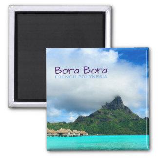 Imã Recurso tropical no ímã do texto de Bora Bora