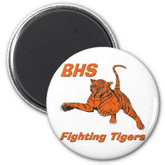 Ímã redondo de combate dos tigres de BHS Imãs De Refrigerador