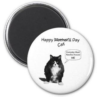 Ímã redondo do dia das mães mal-humorado do gato ímã redondo 5.08cm