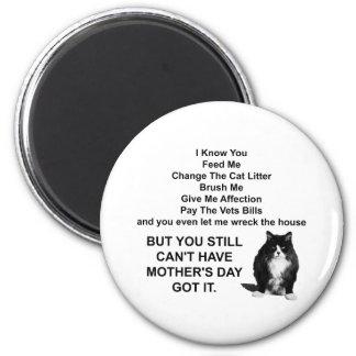 Ímã redondo do dia das mães mal-humorado engraçado ímã redondo 5.08cm