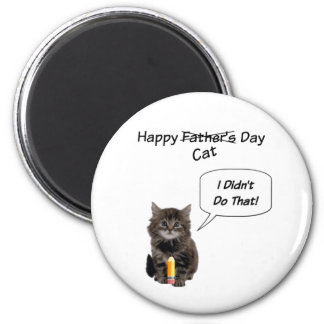 Ímã redondo do dia dos pais bonito do gatinho ímã redondo 5.08cm