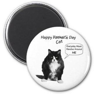 Ímã redondo do dia dos pais mal-humorado do gato ímã redondo 5.08cm