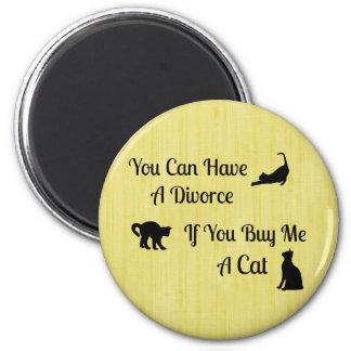 Ímã redondo do divórcio engraçado do gato ímã redondo 5.08cm