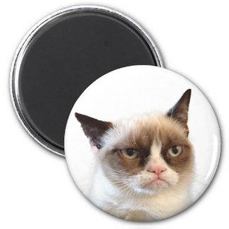 Ímã redondo do gato mal-humorado ímã redondo 5.08cm