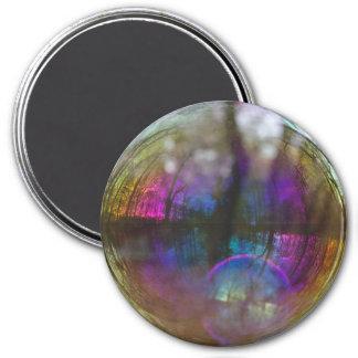 Imã Reflexão das madeiras no ímã da bolha