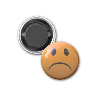 Imã Refrigerador da cara ou ímã triste alaranjado do