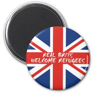 Imã Refugiados bem-vindos dos Británico reais