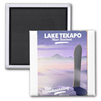 Imã registre um lago Tekapo Nova Zelândia da viagem