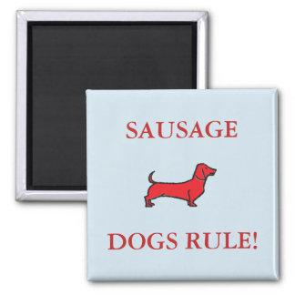 Imã Regra dos cães de salsicha! Vermelho quadrado do